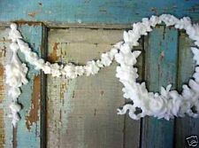 SHABBY & CHIC FLORAL WREATH W/ SWAGS DROPS * FURNITURE APPLIQUES