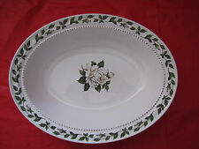 VINTAGE SUPERIOR HALL Green Cameo Rose Oval Vegetable Serving Bowl Mary Dunbar