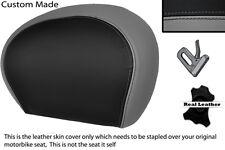 BLACK & GREY CUSTOM FITS PIAGGIO VESPA 125 250 300 GTS LEATHER BACKREST COVER