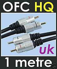 5 X 1m OFC puro Twin 2 Phono estéreo RCA Cable Lead Oro
