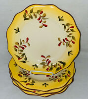 """4 Better Homes & Gardens TUSCAN RETREAT 9"""" LUNCHEON PLATES"""