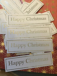 30 X Happy Christmas Embellishment/captions /card Making /clear out/