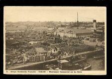 West Africa France Senegal DAKAR busy scene Quay c1920s? PPC