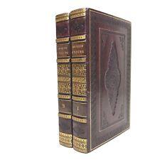 LES NUITS D'YOUNG 1824 Édition de luxe BELLE RELIURE ROMANTIQUE 2 volumes