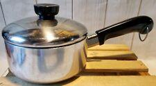 Vintage Revere Ware Teflon Coated Aluminum Clad 1qt Sauce Pan w/Lid