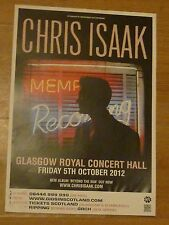 Chris Isaak - Glasgow oct.2012 tour concert gig poster