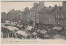 France postcard - La Haye du Puits - Un Mercredi - Jour de Marche - P/U 1910
