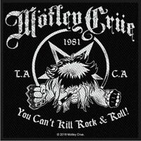 Motley Crue You Cant Kill Rock N Roll Patch Official Metal Band Merch New