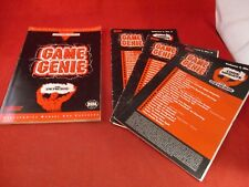 Sega Genesis Game Genie Programming Manual and Code Book & 3 Code Updates ONLY