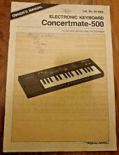 Owner's Manual for Concertmate-500 Electoronic Keyboard 1986 Cat.No42-4004 Japan