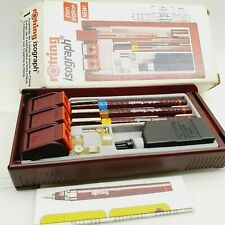 Vintage ROTRING ISOGRAPH technical calligraphy fountain pen SET