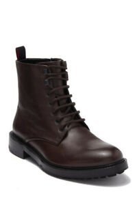 Hugo by Hugo Boss Men's Defend Sz US 7 M / UK 6 DARK BRN Leather Boots $375