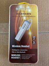 Warner Wireless Hi Tech Accessories Bluetooth Headset 3hr 5m New