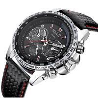 Superbe Montre Sport Megir Neuve Bracelet cuir Homme Men Fashion Watch Promo