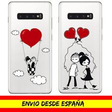Funda Movil Cases Samsung / Muñecos Enamorados Cover Carcasa Dibujo Transparente