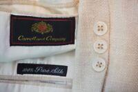 Carroll and Company 100% Silk Beige Sport Coat Jacket Sz 40R