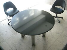"Knoll Pascal Round Table 48"" PRISTINE Blk Granite /John Pawson / Donald Judd"
