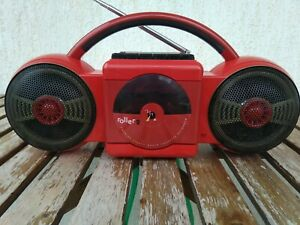 Red Philips Roller 2 D 8017 Moving Sound Boombox
