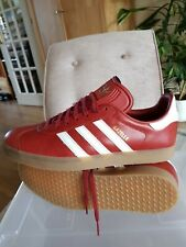 Adidas Gazelle Red Leather Trainers Size UK10