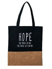 PEACH PETALS CANVAS AND CORK HOPE THE MORE WE DO THE MORE WE CAN DO TOTE BAG