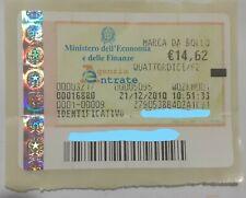 Marche da Bollo originale e valide anno 2010 del 21.12.2010 euro14,62