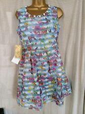 BUTTERFLY DRESS SIZE12 BLUE PURPLE PINK YELLOW ORANGE