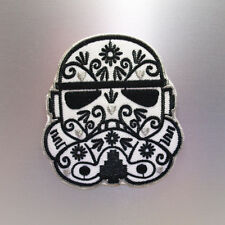 Stormtrooper Patch — Iron On Badge Embroidered Motif — Flower Star Wars