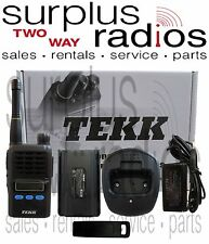 NEW TEKK X-100V VHF 2W 90CH BUSINESS RADIO COMPACT SIZE LCD WAREHOUSE OFFICE