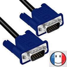 Câble VGA 1,5m Male / Male pour Ecran PC Moniteur TFT Vidéo Projecteur DB15