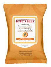 Burt's Bees Exfoliating Facial Cleansing Wipes With Peach: 25 Cloths/Towelettes