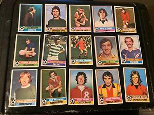 TOPPS YELLOW BACKS 1977/78 SCOTTISH FOOTBALL  CHOOSE NEAR MINT CARD