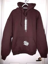 Coors Light Football Laces Hoodie Sweatshirt-XL, brown Heavy & warm!