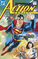 SUPERMAN DC ACTION COMICS #1000 JUNE 2018 1980'S JOSHUA MIDDLETON  VARIANT COVER