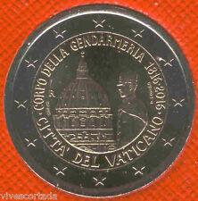 Vaticano 2016 Cartera oficial 2 Euros @ Bicentenario cuerpo de policía @ Nº 14 @