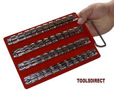 "ToolboxTray Rail Rack Set 1/4"" 3/8"" 1/2"" Sockets Storage Holder Garage Workshop"