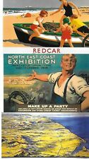 repro railway poster postcards  Nothumberlans & Durham, NE  Exhibition S Shields