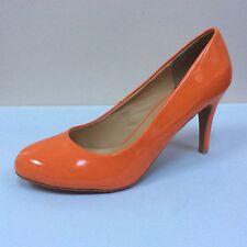 Lunar orange patent court shoes, UK 8/EU 41, RRP £69.99, BNWB