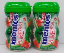 Mentos Pure Fresh Sugar-Free Chewing Gum with Xylitol, Watermelon - Lot of 2