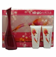 KENZO AMOUR 3 PIECE GIFT SET EAU DE PARFUM NATURAL SPRAY 50ML NIB-K87410010