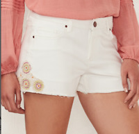 Women's Lc Lauren Conrad Crochet Jean shorts size 2