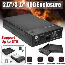 2.5 / 3.5 inch SATA USB 3.0 External Hard Drive Enclosure Case HDD Disk
