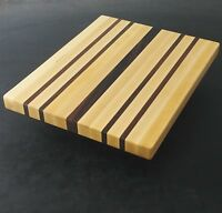 Upstate NY Cutting Board 10 x 12 x 1 Handmade from Hard Maple and Black Walnut