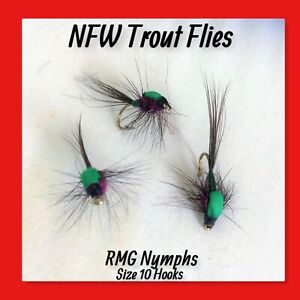 Black HotSpot VIVA Spiders Lake River Trout Fly Fishing Wet Barbless Flies
