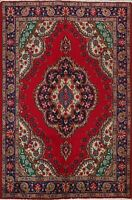 Hand-knotted Vintage Tebriz Traditional Floral Oriental Area Rug Wool 5x7 Carpet
