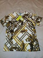 Versace Jeans Baroque T shirt size M, Authentic SLIM Pit to Pit 19 inches