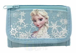 Disney Frozen Elsa Tri-Fold Mini Snow Blue Wallet Kids Back to School Supplies