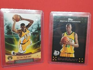 2007 Topps Kevin Durant Rookie Card RC + Upper Deck Kevin Durant Rookie Box Set