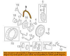 PORSCHE OEM 06-12 Cayman Rear Brake-Hydraulic Flex Hose 98735563701