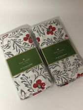 Kate Spade New York - Floral Blockprint Napkins - Set of 8 - NEW