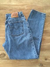 Vtg LEVI'S 550 Womens 12M Relaxed Fit Tapered Leg Denim Blue Jeans Made in USA